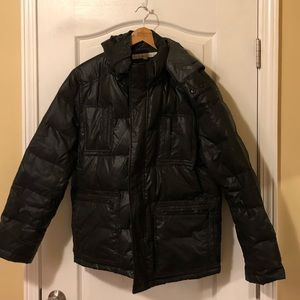 Kenneth Cole New York Hooded Puffer Jacket - Large